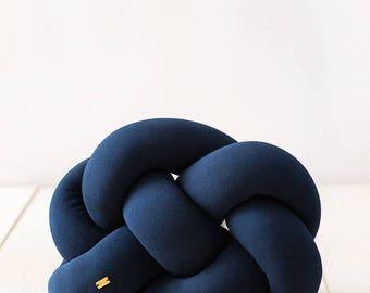 FAT knot cushion - navy blue