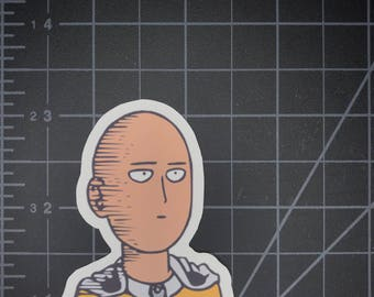 One Punch Man Anime Saitama Vinyl Sticker