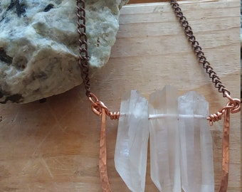 Crystal Necklace, Crystal Pendant, Gemstone Necklace, Healing Crystal, Raw Crystal Necklace, Quartz Necklace
