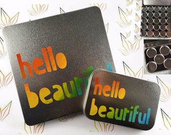 hello beautiful - empty magnetic makeup palette