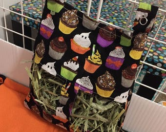 Halloween Hay Bag for Guinea Pigs and Rabbits with Snap Clasps -On Sale!