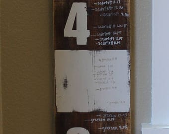 Growth Chart - Wooden