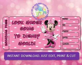 Personalized DISNEY Boarding Pass