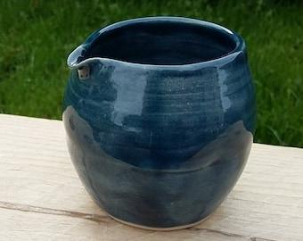 Handmade ceramic dimpled pourer