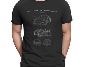Sports Car Patent T Shirt, Car Shirt, Teen Room Shirt, Automotive T Shirt P305