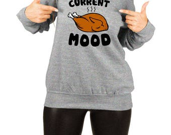 Funny Thanksgiving Sweater Turkey Day Shirt Slouchy Sweatshirt Thanksgiving Shirt Women Funny Thanksgiving Shirts for Adult Gift Ideas TEP51