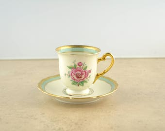 Hohenberg Bavaria Germany Espresso Cup and Saucer