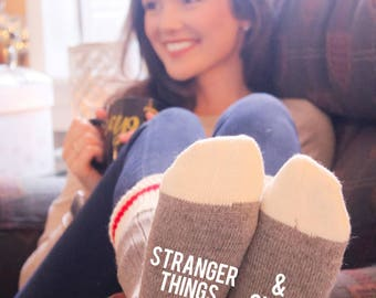 Stranger Things & Chill Cabin Socks