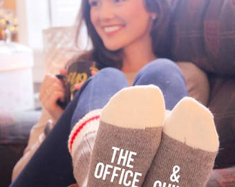 The Office & Chill Cabin Socks