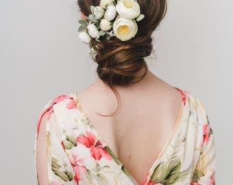 Bridal Hair, Bridal Hair Comb, Wedding Hair Comb, Bridal Flower headpiece, Bridesmaid headpiece, Wedding headpiece, Floral hair piece
