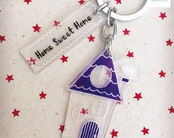 Homemade Home Sweet Home Keychain