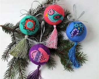 Magic balls for christmas tree decorations,set of christmas balls of 4 pieces,interior decoration,balls on the tree,gifts unique exclusive