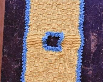 Pot holder yellow-blue