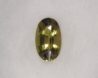 Olive Green Tourmaline .73ct Loose Natural Oval Cut Faceted Gemstone