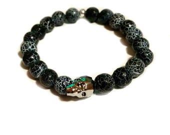 bracelet man, bracelet stones, skull bracelet