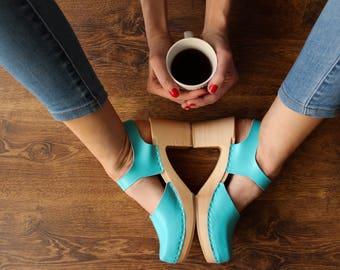 Swedish Clogs Moccasins Wooden clogs Women clogs Leather clogs Clog Womens clogs Boots Womens moccasins Wood clogs Clogs boots Clogs sandals