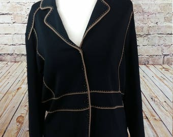 Vintage Austin Reed Womens Jacket Blazer Size Large Button Up Notched Collar Long Sleeve