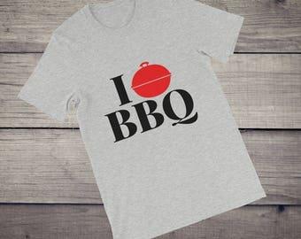 I love BBQ | I love barbecue T-Shirt men women Short-Sleeve Unisex T-Shirt tshirt tee