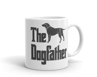 The Dogfather mug, Labrador Retriever silhouette, funny dog gift mug, The Godfather parody, dog lover mug, Labrador mug, Labrador lover gifT