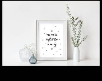 The Brightest Star Print