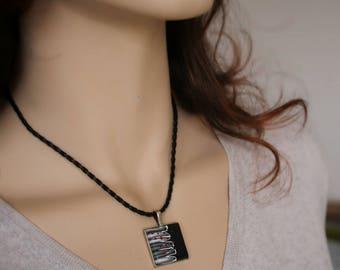 Square YUNA cord pendant