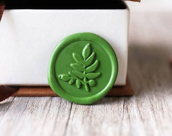Olive leaf wax seal stamp kit,leaves wax seal, Christams gift,party wax seal stamp set, invitation wax stamp