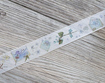 envelope washi tape,The letter to him Washi tape,Envelope Floral washi tape,Watercolor washi tape,Kawaii washi tape,——30mm x 7M