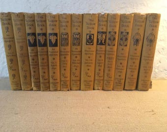 The Yellow Book  Aubrey Beardsley 1894 volumes 1-13 complete
