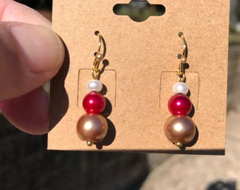 White, Red, Bronze Pearls