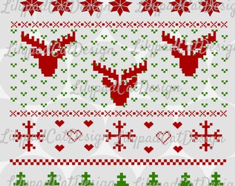 Christmas Sweater SVG, PNG, DXF. Christmas svg, christmas png, holiday sweater svg, ugly christmas sweater svg, holiday sweater png