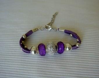 Purple Alcantara Bracelet