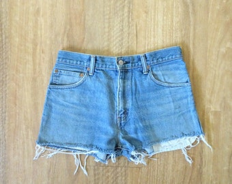 Levis Denim Cut-Off Shorts