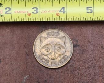 1980 Lake Placid Mascot Roni Raccoon Coin