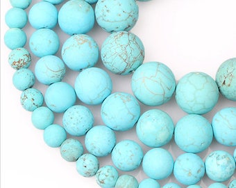 SALE! 8mm Turquoises Natural Stone Beads Stone Round Loose Beads Gemstone Bead Supply