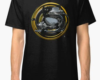 Arial Square Four inspired classic retro  Motorcycle TShirt INISHED productions