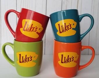 Gilmore Girls Luke's Diner 12 oz Coffee Mug (Red, Blue, Green, Orange)