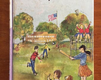 1962, The Bobbsey Twins' Mystery at School, #4, by Laura Lee Hope, vintage children's classic chapter book