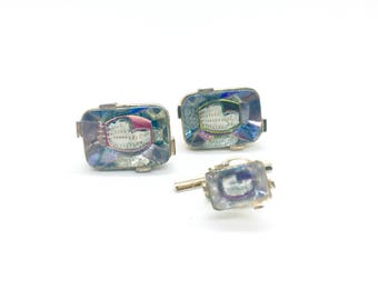Swank Arts of the World Series Roman Colosseum Cufflinks and Tie Tac Set