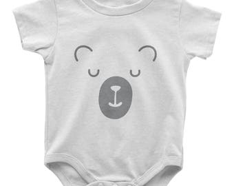 Baby Bear SVG Cut file Newborn Tshirt design Cutting file SVG Dxf Eps Ai Pdf Png Jpg Files for Cricut Silhouette and more