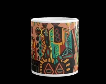 BLACK Art coffee cup