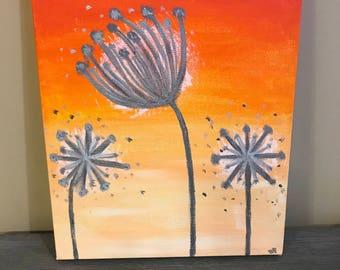 Whimsical Dandelion Painting