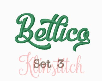 50% Sale!! Set 3 Bellico Embroidery Fonts 5 Sizes Fonts BX Fonts Embroidery Designs PES Fonts Alphabets - Instant Download