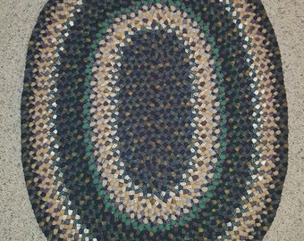 Hand-braided wool rug