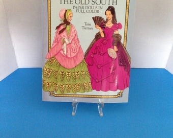 Tom Tierney Fashions of the Old South Paper Dolls Book