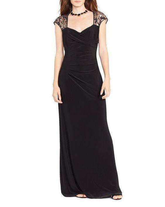 Lauren Ralph Lauren Gown Cap Sleeve Sequin