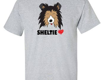 My Sheltie Shetland Sheepdog Heart custom Graphic Logo T Shirt - Unisex
