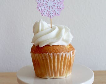 Winter Onderland cupcake toppers; Winter Onederland girl; Frozen Birthday; Frozen Birthday Decorations; Frozen party favors; snowflake cupca
