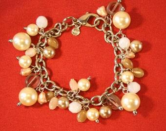 Vintage Bracelet, Beaded Bracelet, Retro, Faux Pearl Bracelet, Costume Jewellery