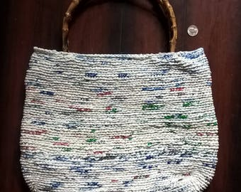 Large Handmade Bag made from Recycled Plastic Grocery Bags