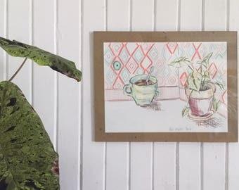 Paper drawings, morning